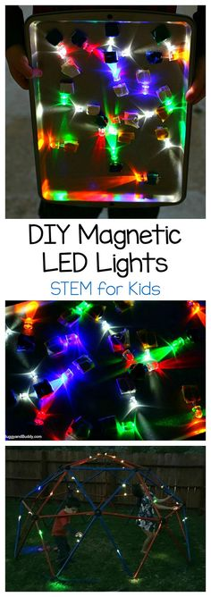 stem technology activities - Science for Kids DIY Magnetic LED Lights Science Activities For Kids, Steam Activities, Stem Science, Science Fair Projects, Preschool Science, Stem Projects, Science Table, Science Ideas, Science Classroom