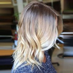 blonde ombre for medium-to-long hair