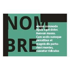 Tarjetas de Visita Una Cara Horizontal Green Flat Business Cards, Faces