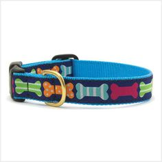 UpCountry Inc.: Rich Navy Blue with colorful and playful Bone palette and pattern. Made from high-tensile strength nylon webbing with...