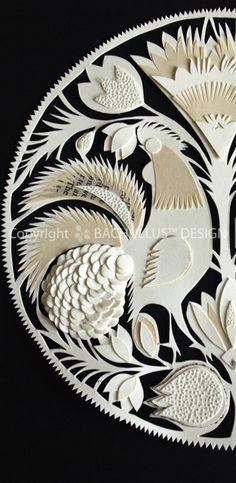 "White Polish Cutout, ""Polish folk art on my own way :)"","