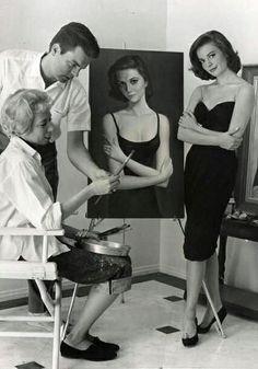 Margaret Keane and Natalie Wood