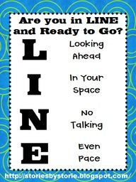Rules for lining up