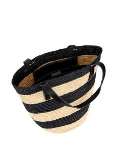 Sensi Studio Maxi straw striped tote!