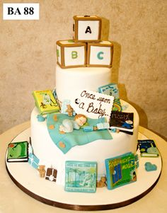 Carlo's Bakery - Baby Book Specialty Cake Designs 2 Tier Story Book