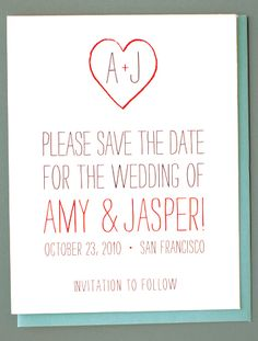 simple, playful save the date - too cute?