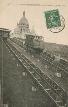 Funiculaire et Sacré Coeur vers 1900