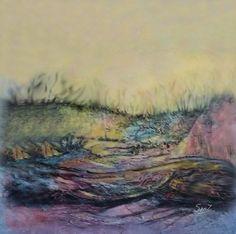 Dori Sanz -  Paisaje abstracto #sealandscape #painting #buenosaires