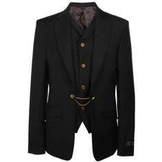 VIVIENNE WESTWOOD Attach Waistcoat Blazer Jacket ($1,280) ❤ liked on Polyvore
