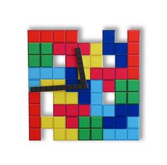 Tetris Wall Clock Game by walldecoration on Etsy, $30.00