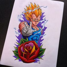 Majin Vegeta Tattoo Design by Hamdoggz.deviantart.com on @DeviantArt