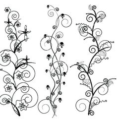 Floral borders vector 461609 - by anasteisha on VectorStock®