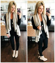 Shop the Look from Living in Yellow on ShopStyleWork Wear // Tan + Black Outfit Legging Outfits, Fall Outfits For Work, Casual Fall Outfits, Black Outfits, Outfit Work, Casual Work Outfit Winter, Trendy Outfits, Casual Attire, Outfit Summer