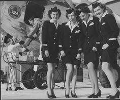 Trans Canada Airlines in the were hot. Aviation World, Civil Aviation, Vintage Travel, Vintage Airline, Airline Cabin Crew, Atlanta Airport, Flights To London, Airline Uniforms, Intelligent Women