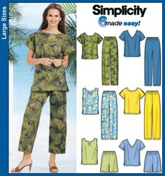 Simplicity Sewing Pattern 7236 Plus Size Sportswear GG *** You can get more details by clicking on the image. Plus Size Sewing Patterns, New Look Patterns, Simplicity Sewing Patterns, Clothing Patterns, Dress Patterns, Sewing Shirts, Sewing Clothes, Shirt Bluse, T Shirt