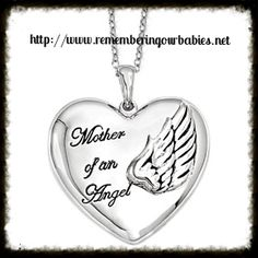 Mother of an Angel with Wings .925ss Necklace