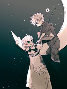 Jelsa: man and woman in moon