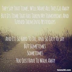"""-- #LyricArt for """"Walk Away"""" by Ben Harper"""
