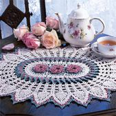 Rose Ring Doily Thread Crochet Pattern ePattern