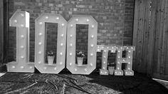100th Large Light Up Letters for Birthday Celebrations.