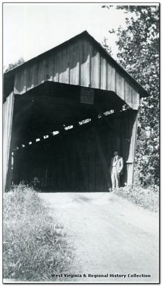 Holland's Mill Covered Bridge on Simpson Creek, Harrison County, W. Va.