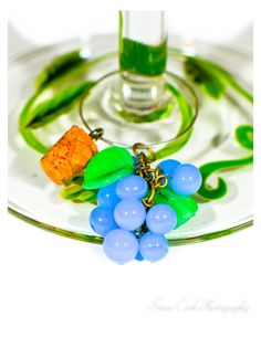 Grapes wine charm drink glass marker tag by FriendlyWrenJewelry  SALE:  COUPON CODE COLUMBUS15 FOR 15% OFF