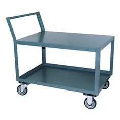 Low Profile Cart, 1200 lb, 36x30x39 by Jamco. $271.23. Offset Handle Low Profile Cart, 2 Shelf, Load Capacity 1200 lb., Welded Steel Construction, Gauge Thickness 12, Powder Coat Finish, Color Gray, Overall Length 36 In., Overall Width 30 In., Overall Height 39 In., Number of Shelves 2, Caster Size 5 In. x 1-1/4 In., Caster Type 2 Rigid, 2 Swivel, Caster Material Urethane, Capacity per Shelf 600 lb., Distance Between Shelves 17 In., Shelf Length 30 In., Shelf Width 18 In....