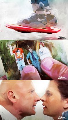 Fan-Art Back to the Future - At the beginning of this new series of works began to take characters from The popular culture, both musical, such as film, in order to attempt a new list of people giving Aa space in the art world.