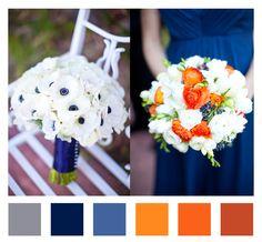 navy blue, gray, and orange wedding ideas | Hans Fahden Wedding – Orange + Navy + Gray | Barn Lovely