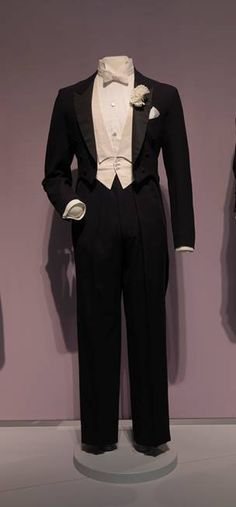 Fred Astaire's tuxedo on exhibit at the RISD Museum, on loan to FIDM Museum by the City of  Los Angeles