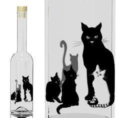 gattosa bottiglia con gatti    www.gattosi.com