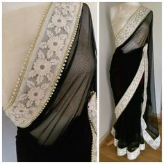 MIA beautiful monochrome sari
