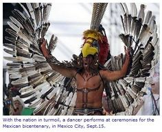 Mexico at Partying Neoliberal Encroachment - La Jornada, Mexico – The Moderate Voice Arte Plumaria, Enchanted Forest Theme, Aztec Culture, Aztec Warrior, Bird Costume, Mesoamerican, Inca, Thinking Day, Halloween 2015