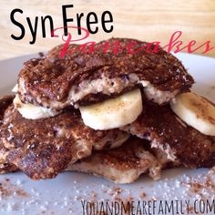 Gorgeous Slimming World Syn Free Pancakes made using your Healthy Extra B allowance Slimming World Pancakes, Slimming World Deserts, Slimming World Puddings, Slimming World Tips, Slimming World Breakfast, Slimming World Recipes Syn Free, Syn Free Pancakes, Slimmimg World, Cooking Recipes