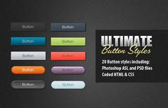 WDL Premium: 20 Ultimate Button Styles | Premium - via http://bit.ly/epinner
