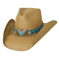 River of Love - Shantung Panama Cowboy Hat