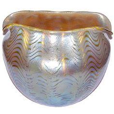 ❤ - Loetz | Art Nouveau Loetz glass ewer and glasses by Richard Teschner.