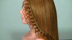 Плетение ажурной косички на длинные волосы. Braided hairstyle