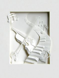 Paper Art. 'White Music' by the Koren Artist ~ Cheong-ah Hwang.
