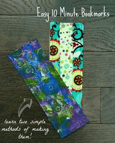Two quick, easy ways to use your scrap fabric to make a simple fabric bookmark. Ideal project for children and those learning a sewing machine. Add a fabric bookmark to every book you give as a gift to make it special.