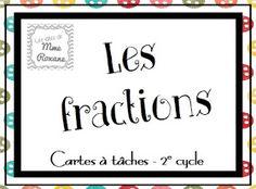 Les idées de Mme Roxane!: Des fractions et des cartes à tâches