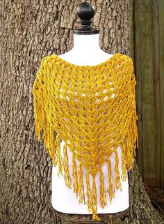 Hand Crocheted Cowl Scarf  Neckerchief Shawlette in by pixiebell, $50.00