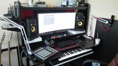 My home studio setup workstation! :)