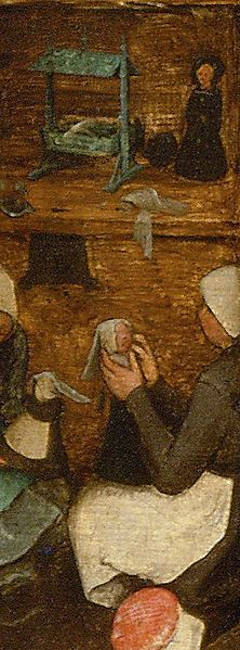 Detail from Children's Games painting by Pieter Bruegel the Elder, 1560.