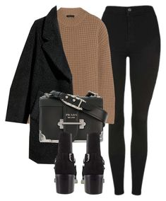 """Untitled #7132"" by laurenmboot ❤ liked on Polyvore featuring Topshop, Calvin Klein Collection, H&M and Prada"
