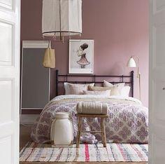 Roze grijs slaapkamer