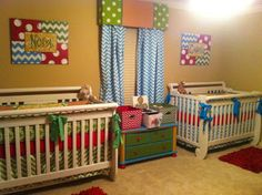 Twins Nursery for a boy and a girl