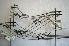Vintage metal wall sculpture - COOL!