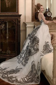 st pucchi 2014 2015 bridal gizelle strapless black and white ball gown wedding dress -- St. Wedding Robe, Wedding Attire, Wedding Gowns, Wedding Night, Chic Wedding, Wedding Tips, Lace Wedding, White Ball Gowns, Looks Chic