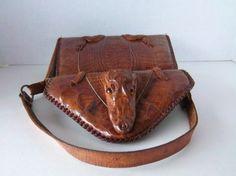 Vintage Baby Alligator Purse Handbag Genuine by Sarasvintageattic, $79.00